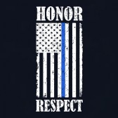 4th-Of-July-Honor-Respect-American-Flag-Thin-Blue-Line-T-Shirt