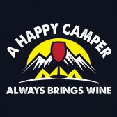 A-Happy-Camper-Always-Brings-Wine-T-Shirt