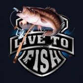 Bass-Fishing-Live-To-Fish-Rod-Reel-Graphic-T-Shirt