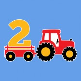 Birthday-Tractor-2-Year-Old-Gift-ToddlerInfant-Kids-T-Shirt