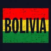 Bolivia-Vintage-Flag-Youth-Kids-T-Shirt