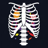Candy-Skeleton-Rib-cage-X-Ray-Halloween-Toddler-Kids-T-Shirt