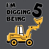Digging-Being-5-Five-Years-Old-Birthday-ToddlerInfant-Kids-T-Shirt
