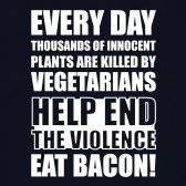 End-The-Violence-Eat-Bacon-T-Shirt