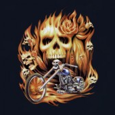 Flaming-Skull-Chopper-T-Shirt-