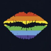 Gay-Pride-Rainbow-Lips-Graphic-Print-Love-No-Limits-T-Shirt