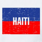 Haiti-Vintage-Flag-Youth-Kids-T-Shirt