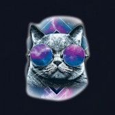 Hipster-Rave-Cat-With-Glasses-Club-Wear-Psychedelic-T-Shirt
