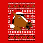 Horse-Mask-Ugly-Christmas-Sweater-Youth-Kids-T-Shirt