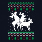 Humping-Reindeer-Threesome-Ugly-Christmas-Sweater-Sweatshirt