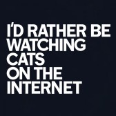 Id-rather-be-WATCHING-CATS-T-Shirt