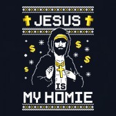 Jesus-Is-My-Homie-Ugly-Christmas-Sweater-Youth-Kids-T-Shirt