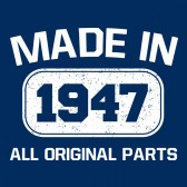 Made-In-1947-All-Original-Parts-T-Shirt