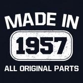Made-In-1957-All-Original-Parts-T-Shirt