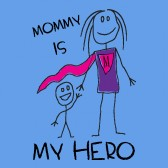 Mommy-Is-My-Hero-Kids-T-Shirt