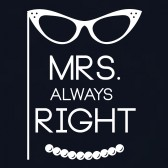 Mrs-Always-Right-Women-T-Shirt