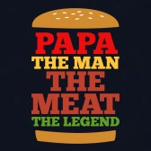 PAPA-The-Man-The-Meat-The-Legend-T-Shirt