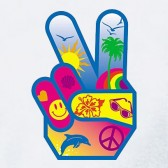 Peace-Hand-sign-T-Shirt