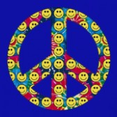 Peace-Sign-Smiley-Faces-Women-T-Shirt
