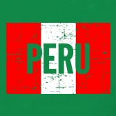 Peru-Vintage-Flag-Youth-Kids-T-Shirt