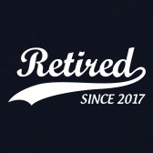 Retired-Since-2017-T-Shirt