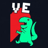 T-REX-Love-Half-Heart-T-Shirt