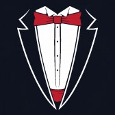 Tuxedo-Red-Bow-Tie-ToddlerInfant-Kids-T-Shirt
