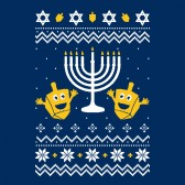 Ugly-Christmas-Hanukkah-Sweater-Youth-Kids-T-Shirt