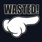 WASTED-Cartoon-Hand-T-Shirt